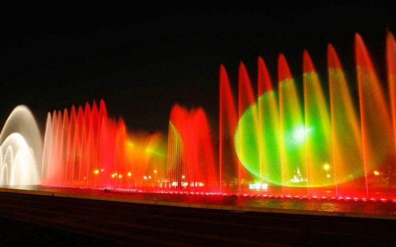 Fuentes iluminadas del Parque Mágico del Agua
