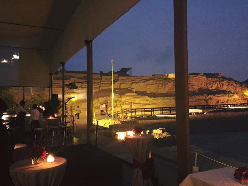 Vista de la terraza del restaurante de la Huaca Pucllana